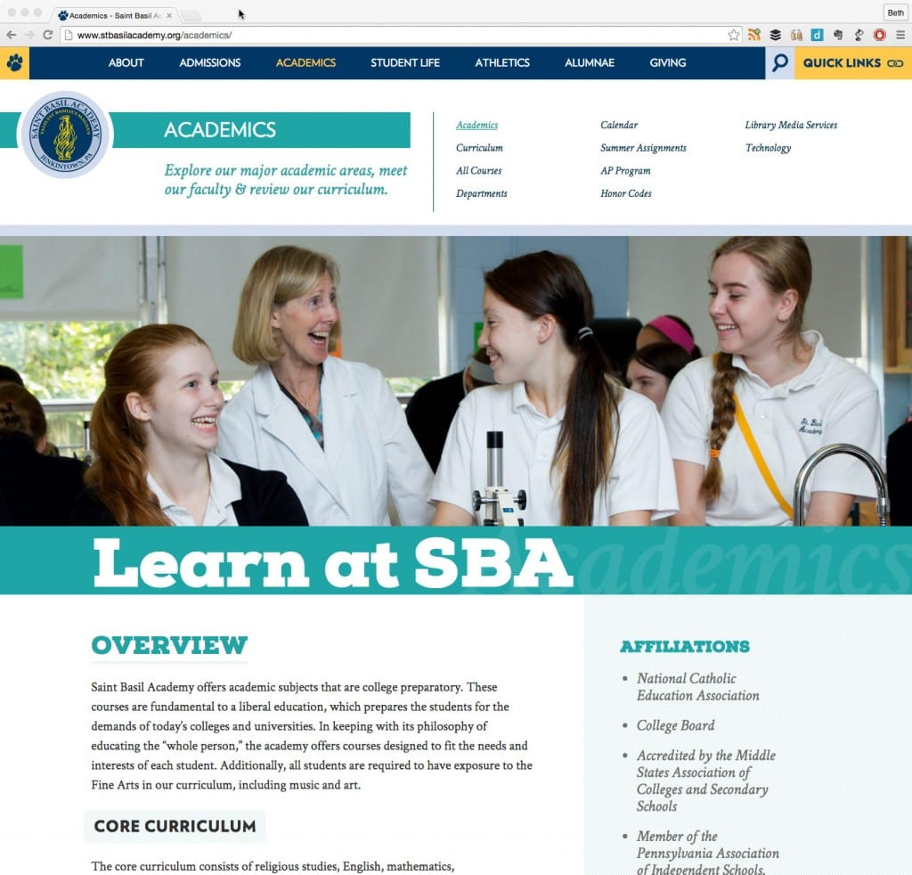 school wordpress sample page